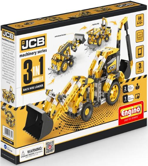 Конструктор ENGINO JCB30 JCB Набор из 3 моделей. Экскаватор-погрузчик<br>