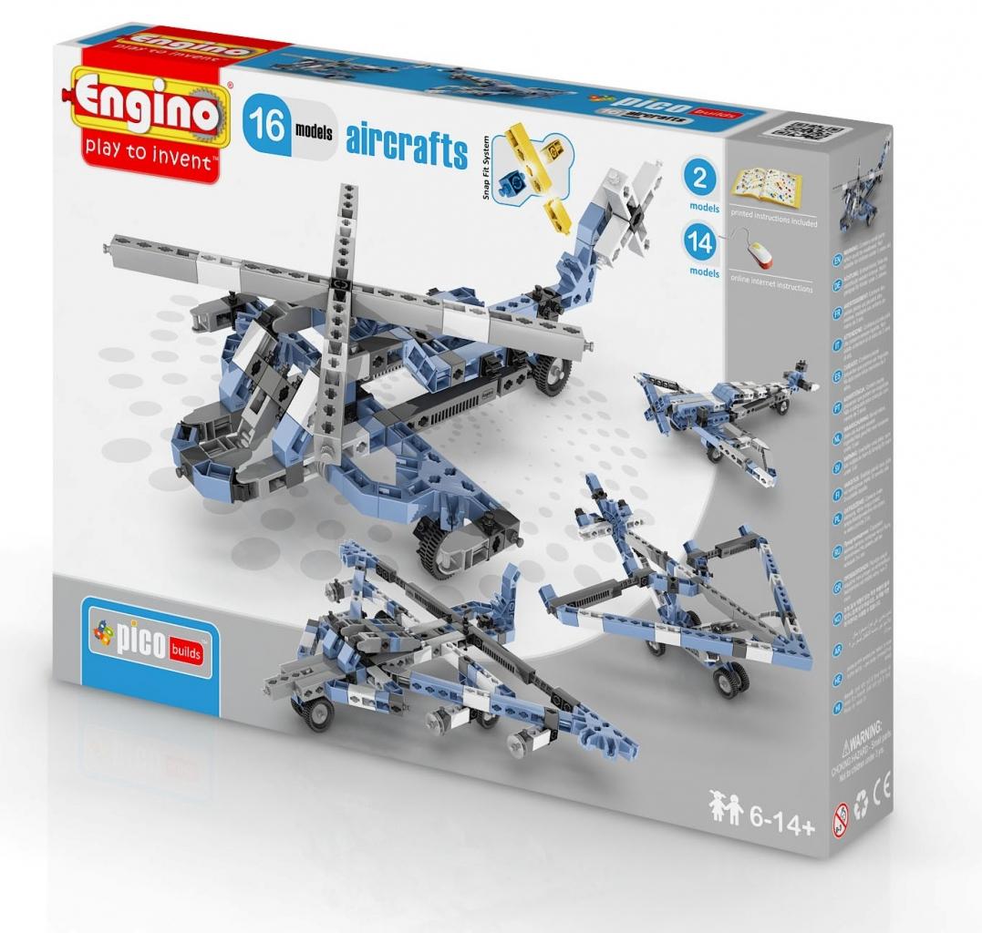Конструктор ENGINO PB 43/1633 INVENTOR Самолеты - 16 моделей<br>