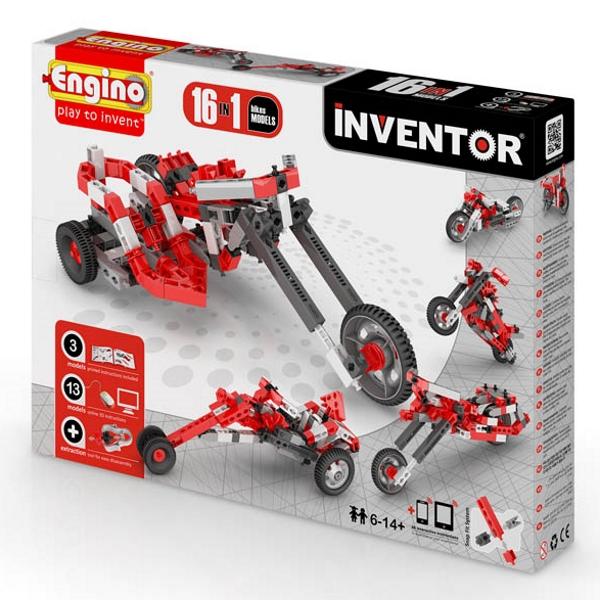 Конструктор ENGINO PB 42/1632 INVENTOR Мотоциклы - 16 моделей<br>