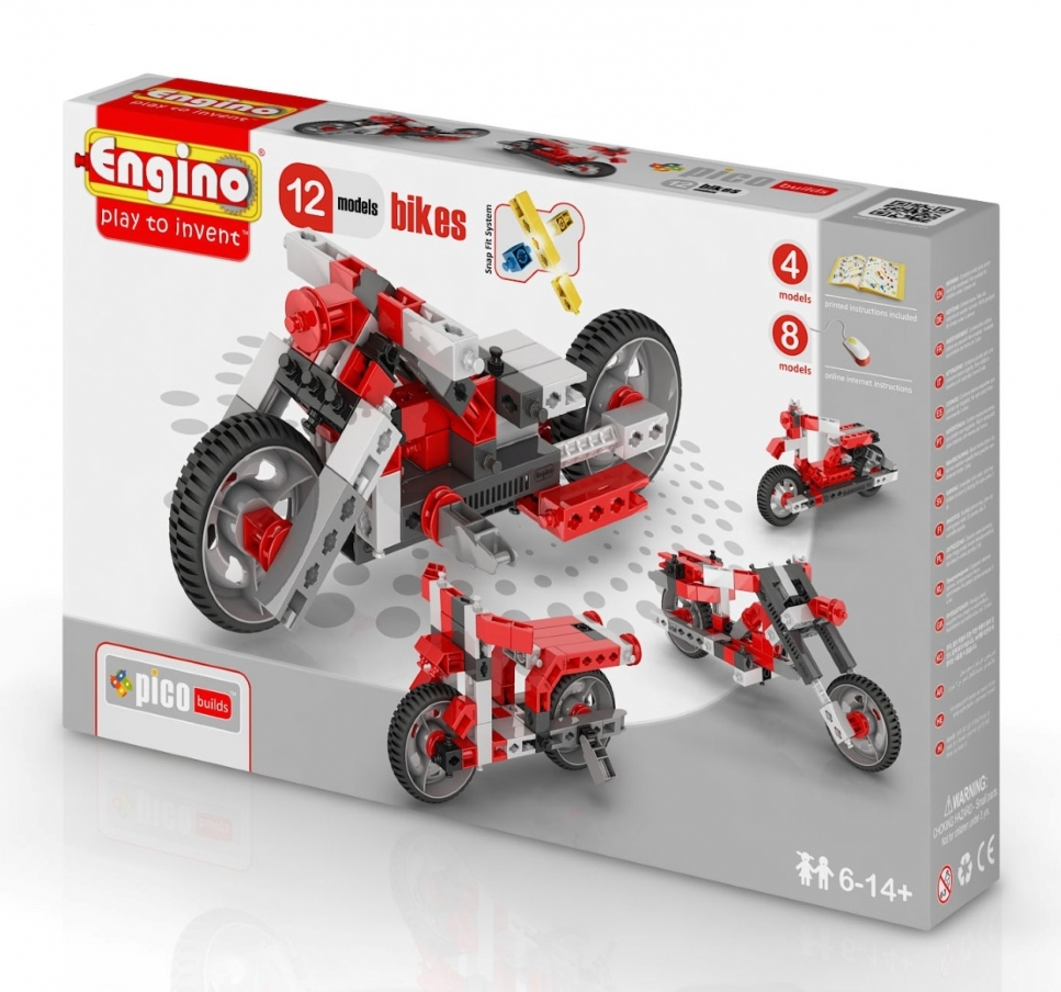 Конструктор ENGINO PB 32/1232 INVENTOR Мотоциклы - 12 моделей<br>
