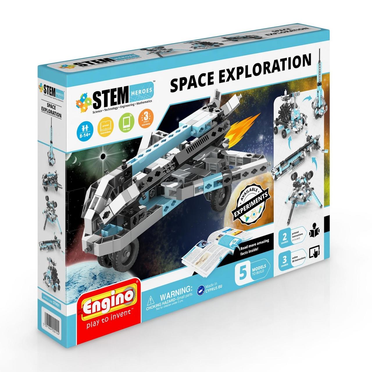 Конструктор ENGINO STH51 STEM Heroes. Набор из 5 моделей. Освоение космоса<br>