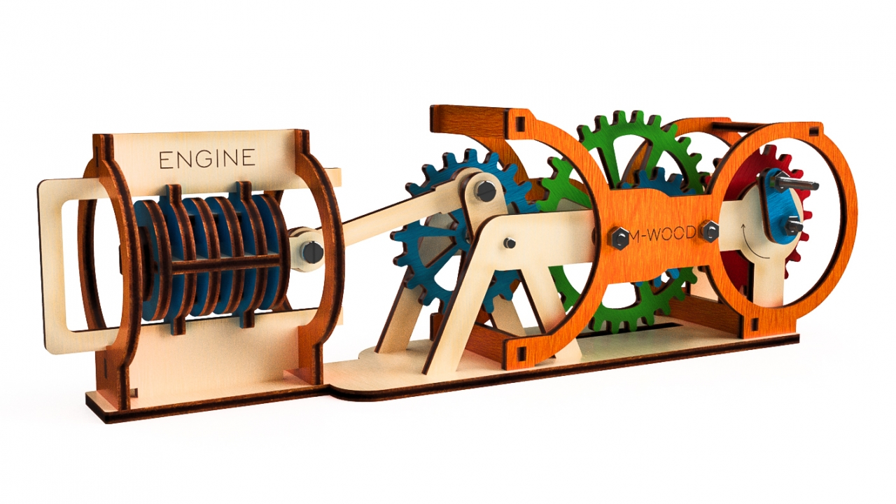 Двигатель из дерева